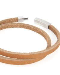 Ted Baker - Brown Flat Leather Bracelet for Men - Lyst