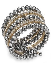 INC International Concepts | Metallic Hematite-tone Crystal Coil Bracelet | Lyst