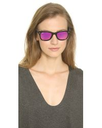 Ray-Ban | Pink Icons Wayfarer Sunglasses - Black/fuxia Mirror | Lyst