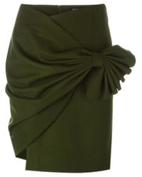 Jacquemus - Green Draped Wrap Skirt - Lyst