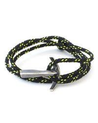 Anchor & Crew | Green All Black Bruce Rope Bracelet for Men | Lyst