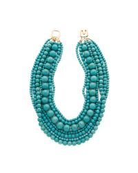 Kenneth Jay Lane | Blue Layered Necklace - Turquoise | Lyst