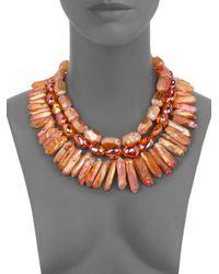 Nest | Orange Fire Opal Quartz Necklace | Lyst