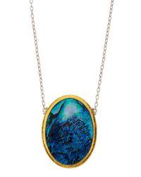 Gurhan | Blue Surf Paua Shell Pendant Necklace | Lyst
