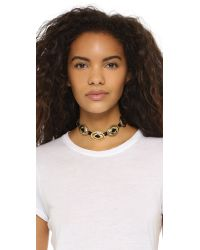Vanessa Mooney | Black Concho Choker Necklace | Lyst