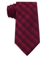 Calvin Klein | Red Silk-blend Tie for Men | Lyst