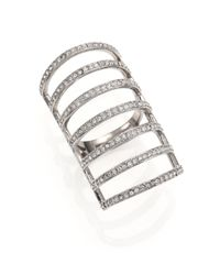 Michael Kors | Metallic Brilliance Statement Pavé Cage Ring | Lyst