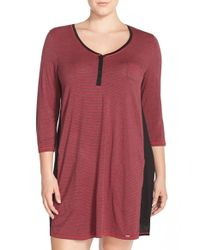 DKNY | Red Sleepshirt | Lyst