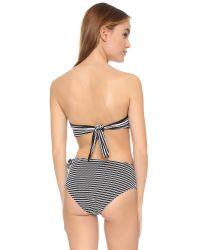 Solid & Striped - Black Grace Bandeau Bikini Top - Lyst