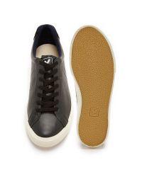Veja - Black Esplar Leather Sneakers for Men - Lyst