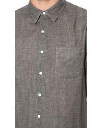Rag & Bone - Gray Double Face Beach Shirt for Men - Lyst