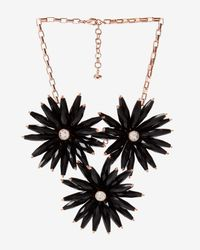 Ted Baker - Black Floria Flower Starburst Necklace - Lyst