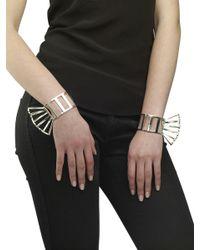 Arme De L'Amour | Metallic Set Of 2 Large Stripe Bracelet | Lyst