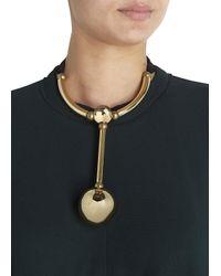 Lanvin | Metallic Gold Tone Oversized Necklace | Lyst