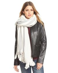 Donni Charm | Gray 'Rule' Reversible Blanket Scarf | Lyst