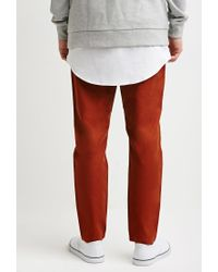 Forever 21 - Brown Drawstring Canvas Pants for Men - Lyst