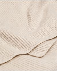 Zara | Natural Rib Knit Scarf for Men | Lyst
