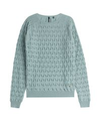 Woolrich - Pleated Cashmere Pullover - Green - Lyst