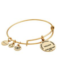 ALEX AND ANI | Metallic Ruler Of The Woods - Moonlit Embrace Willow Bangle | Lyst