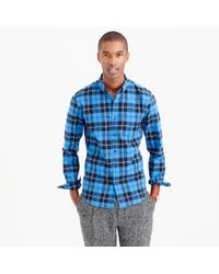 J.Crew | Blue Slim Vintage Oxford Shirt In Ramsay Tartan for Men | Lyst