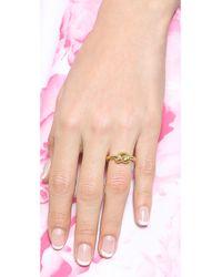 Michael Kors - Metallic Smooth Metal Knot Ring - Gold - Lyst