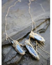 Free People | Blue My Shadow Crystal Collar | Lyst