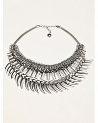 Free People | Metallic Crescent Crystal Collar | Lyst