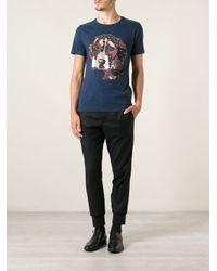 Paul & Joe - Blue Patchwork Dog Print Tshirt for Men - Lyst