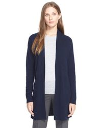 Theory - Blue 'analiese' Open Front Cashmere Cardigan - Lyst