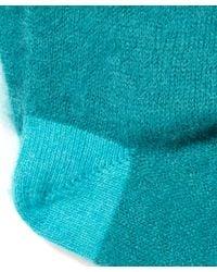Paul Smith | Green Mohair Block Socks | Lyst