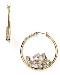 ABS By Allen Schwartz | Metallic Gypsy Hoop Earrings | Lyst
