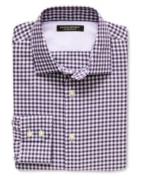 Banana Republic | Purple Slim-fit Non-iron Twill Gingham Shirt for Men | Lyst