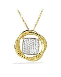David Yurman - Metallic Infinity Medium Pendant Necklace With Diamonds - Lyst