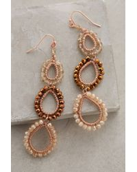 Anthropologie | Metallic Beaded Lochan Earrings | Lyst