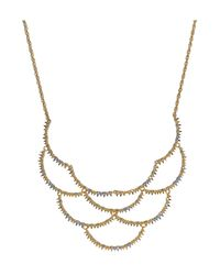 Alexis Bittar | Metallic Crystal Embellished Gold-plated Bib Necklace | Lyst