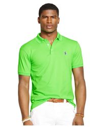 Polo Ralph Lauren - Green Custom-fit Stretch-mesh Polo for Men - Lyst