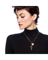 Lulu Frost | Metallic Wisteria Charm Necklace | Lyst