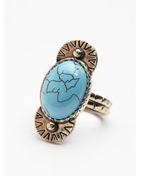 Free People - Blue Womens New Moon Ring - Lyst
