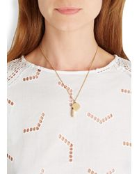 Marc By Marc Jacobs | Metallic Lost And Found Gold Tone Whistle Necklace | Lyst