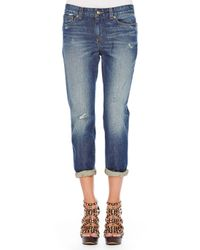 Michael Kors | Blue Michael Distressed Boyfriend Jeans | Lyst