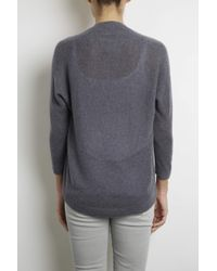 INHABIT | Gray Feather Weight Cashmere U-neck | Lyst