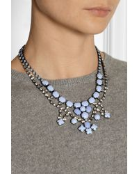 Tom Binns - Blue Neopolitano Rhodiumplated Swarovski Crystal Necklace - Lyst