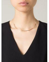Dafne - Metallic Thin Arch Necklace - Lyst