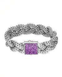 John Hardy | Metallic Classic Chain Large Braided Silver Bracelet for Men | Lyst