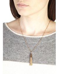 Eddie Borgo | Pink Rose Gold Plated Chain Tassle Necklace | Lyst