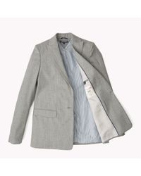Tommy Hilfiger | Gray Wool Blend Blazer | Lyst