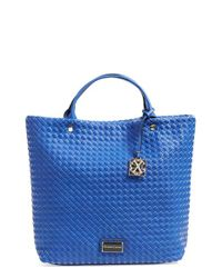 CXL by Christian Lacroix - Blue 'lourmain' Woven Satchel - Lyst