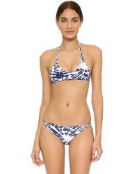 Mikoh Swimwear | Molokai Wave Coastal Blue Bikini Bottoms | Lyst