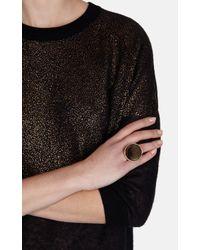 Karen Millen | Metallic Round Stone Statement Ring | Lyst