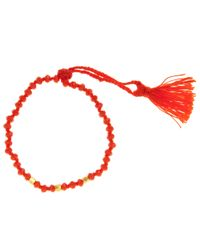 John Lewis - Red Gold Plated Agate Bead Friendship Bracelet - Lyst